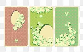 Elegant Style Easter Border Pattern - Easter Bunny Easter Egg Pattern PNG