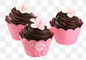 Chocolate Cake - Cupcake Chocolate Cake Frosting & Icing Muffin Cream PNG