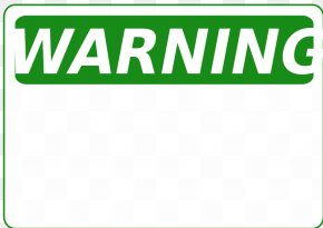 Blank Warning Sign - 2014 Big Ten Conference Football Season Organization Service Information PNG