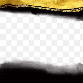 Ink And Gold Background Texture - Black And White Texture Mapping PNG