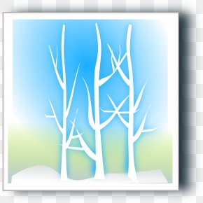 Watercolor Christmas Tree Blue Tree - Winter Snowflake Season Clip Art PNG