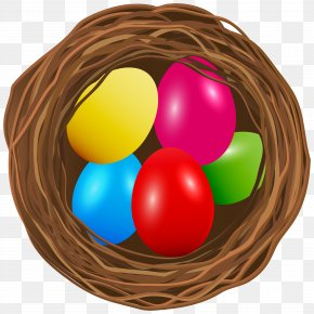 Easter Egg Nest Transparent Clip Art Image - Easter Egg Clip Art PNG