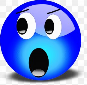 Ball Electric Blue - Emoticon PNG