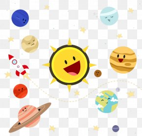 Cute Solar System Planet Vector - Solar System Planet Illustration PNG