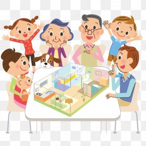 Happy Family - Royalty-free Stock Illustration Cartoon Illustration PNG