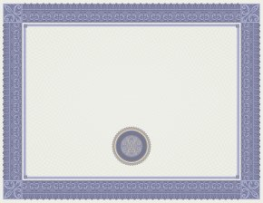 White And Blue Certificate Template Image - Text Picture Frame Blue Area PNG