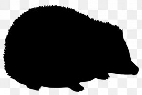 Black And White - Hedgehog Silhouette Black And White Clip Art PNG