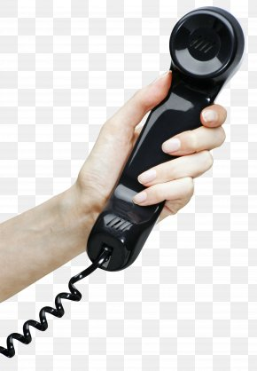 Hand With Telephone Clipart Image - Telephone Clip Art PNG