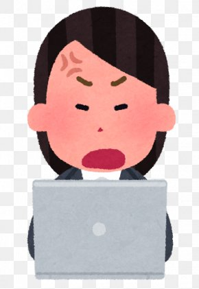 Angry Businesswoman - Laptop Personal Computer Clip Art Microsoft Tablet PC PNG