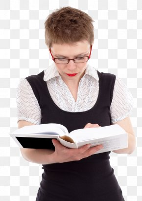 Young Woman Reading Book Transparent - Reading Book PNG