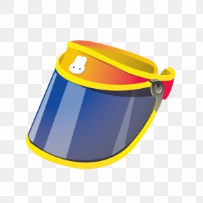 Yellow Sun Hat Pattern - Hat Cartoon PNG