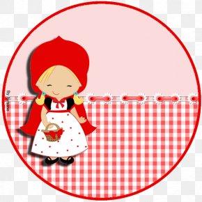 Chapeuzinho Vermelho - Red Convite Paper Label PNG