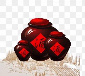 Hand Painted Wine Altar - Baijiu Rice Wine Sake Alcoholic Drink PNG