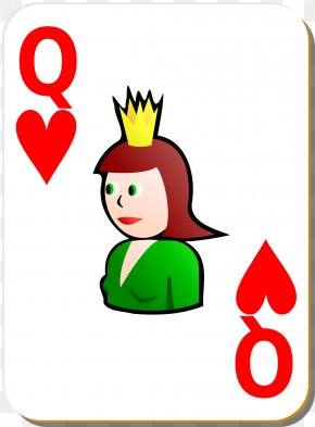 Heart Playing Cards - Queen Of Hearts Playing Card Clip Art PNG