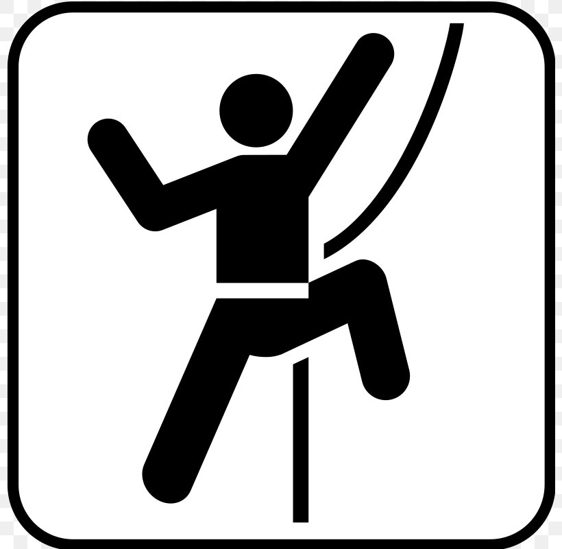 Rock Climbing Free Climbing Bouldering Pictogram, PNG, 800x800px, Climbing, Area, Black, Black And White, Bouldering Download Free