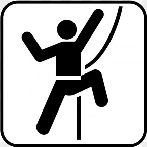 Recreation Cliparts Free - Rock Climbing Free Climbing Bouldering Pictogram PNG