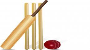 Picture Cricket Ball - Cricket Bats Batting Cricket Balls Clip Art PNG
