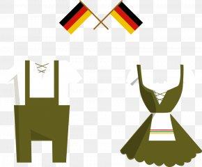Vector German Flag And Bartender Apparel - Germany Oktoberfest Illustration PNG