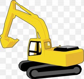 Vector Excavator - Excavator Graphic Arts Clip Art PNG