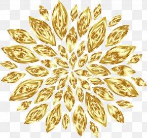 Gold Flower - Gold Flower Petal Clip Art PNG