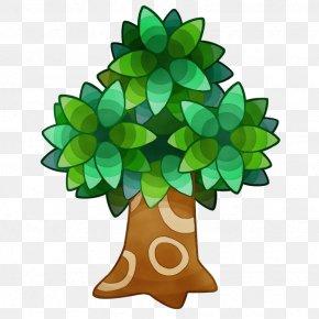 Pine Flower - Green Leaf Tree Plant Symbol PNG