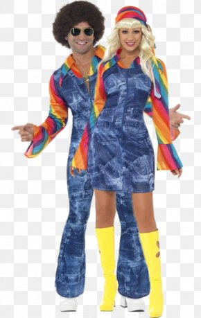 Hot Couple - 1970s Womens Dancing Dream Costume Clothing Disco PNG