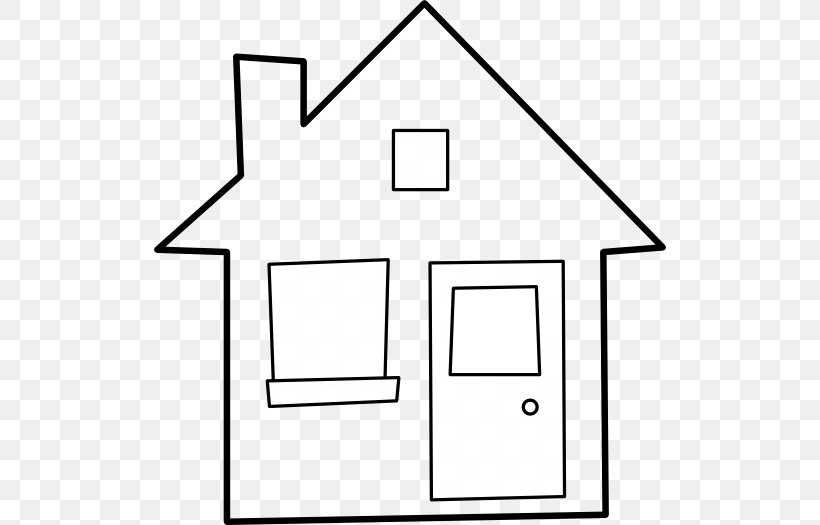 House Outline Coloring Book Clip Art Png 512x525px House Area Black And White Book Building Download