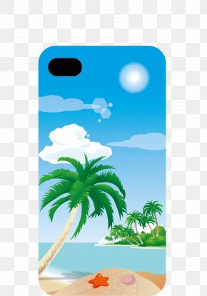 Coconut Tree Vector Phone Shell - IPhone 7 Telephone Google Images PNG