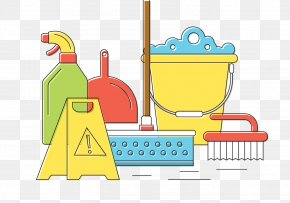 Cleaning Tools - Spring Cleaning Clip Art PNG