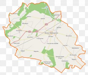 Map - Borek Wielkopolski Strumiany, Gostyń County Zimnowoda, Greater Poland Voivodeship Zalesie, Gostyń County Osówiec, Greater Poland Voivodeship PNG