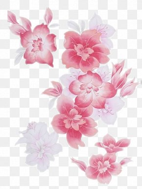 Hand-painted Peach Flowers - Motif Watercolor Painting Drawing PNG