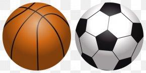 Basketball And Volleyball - Cartoon Basketball Volleyball Football PNG