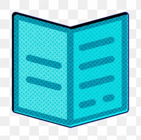 Electric Blue Teal - Brochure Icon Document Icon Menu Icon PNG