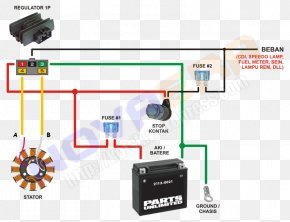 Wiring Diagram - Wiring Diagram Honda Motorcycle Electrical Cable PNG