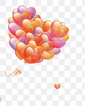 Floating Balloon - Valentines Day Romance Photomontage Poster Love PNG
