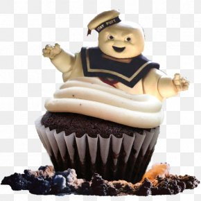 Phoneix - Cupcake Stay Puft Marshmallow Man Buttercream Muffin Biscuits PNG