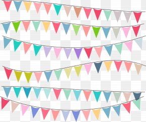 Party Decorating Triangle Flag - Flag Euclidean Vector Adobe Illustrator PNG