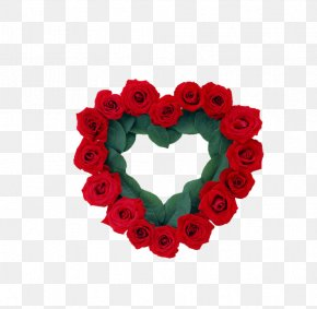 Heart-shaped,Rose - Flower Rose Wreath Valentines Day Heart PNG