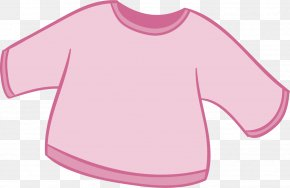 Pink Baby Long-sleeved Clothes - Sleeve T-shirt Pink Clothing PNG