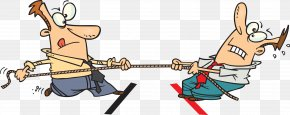 Cartoon Tug Of War - Tug Of War Clip Art PNG