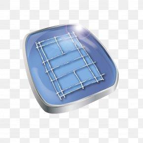 Hand Painted Blue Badminton Court - Badminton Sport Net PNG