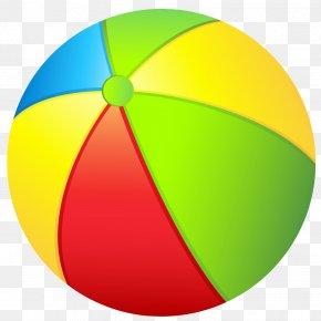 Yellow Ball Cliparts - Beach Ball Clip Art PNG