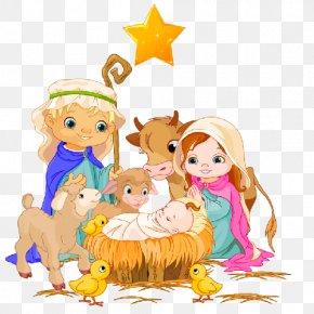 Christmas Nativity - Nativity Scene Nativity Of Jesus Holy Family PNG