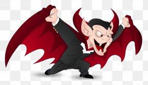 Red Halloween Vampire Clipart - Pumpkin Spice Latte Count Dracula Halloween Costume Vampire PNG