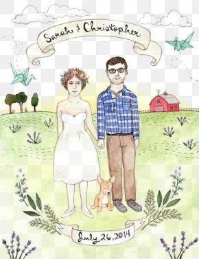 Happy Wedding - Wedding Illustration PNG