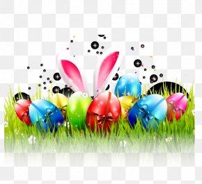 Easter Eggs Vector Material, - Easter Bunny Easter Egg Rabbit PNG