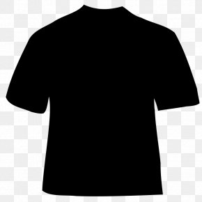 Black T-Shirt Clip Art - T-shirt Black And White Shoulder PNG