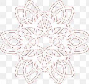 Red Circle Pattern - White Symmetry Petal Pattern PNG