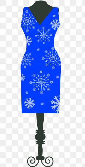 Vector Blue Skirt Clothing Women For Women - Clothing Dress Clothes Hanger PNG