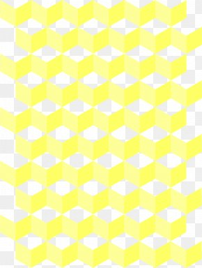 Honeycomb Background Cliparts - Paper Yellow Gift Wrapping Area Pattern PNG